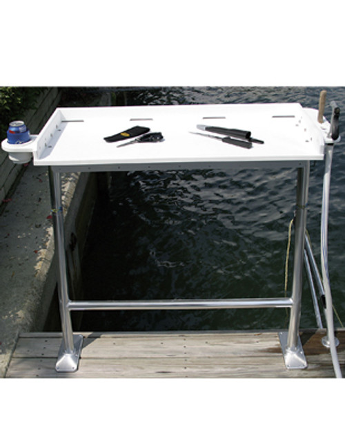 Dock Mount Fish Cleaning Table
