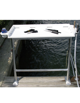 Dock mount fish cleaning table birdsall marine design for Fish cleaning tables