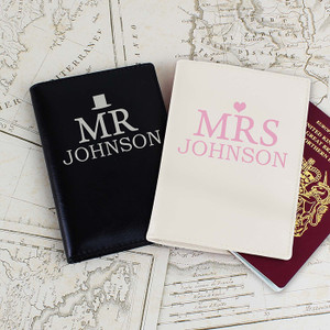 Personalised Mr & Mrs Passport Holders Set From Something Personal