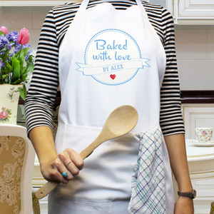 Personalised Baked With Love Apron From Something Personal