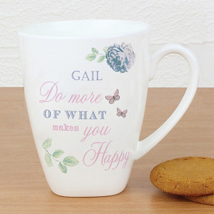 Personalised Secret Garden Latte Mug From Something Personal