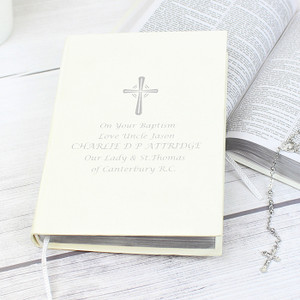 Personalised Silver Companion Holy Bible From Something Personal