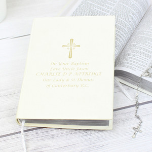 Personalised Gold Companion Holy Bible From Something Personal