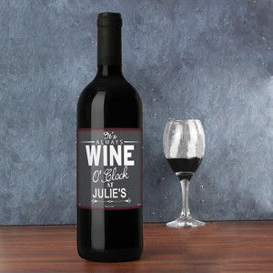 Personalised Wine O'Clock Red Wine From Something Personal