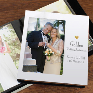 Personalised Decorative Golden Anniversary Photo Album From Something Personal