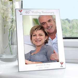 Personalised 40th Wedding Anniversary Frame From Something Personal