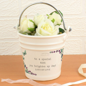 Personalised Forget Me Not Porcelain Bucket From Something Personal