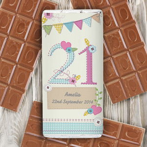 Personalised Birthday Craft Chocolate Bar From Something Personal
