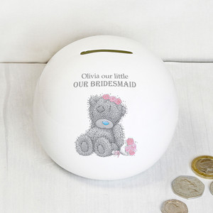 Personalised Me To You Girls Wedding Money Box From Something Personal