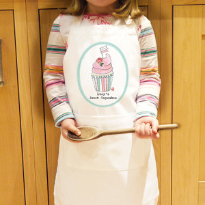 Personalised Little Cupcake Kids Apron From Something Personal