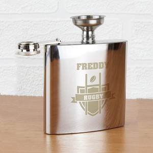 Personalised Rugby Hip Flask From Something Personal