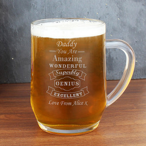 Personalised Vintage Typography Tankard From Something Personal