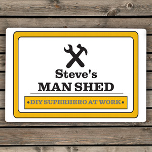 Personalised Man At Work Sign From Something Personal