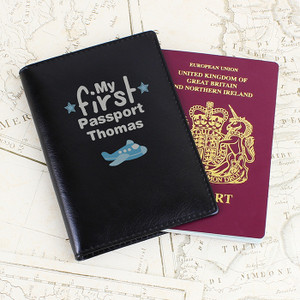 Personalised My First Black Passport Holder From Something Personal