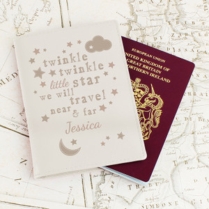 Personalised Twinkle Twinkle Cream Passport Holder From Something Personal