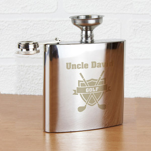 Personalised Golf Hip Flask From Something Personal