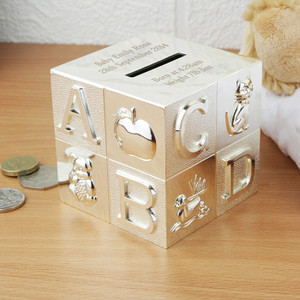 Personalised ABC Money Box From Something Personal