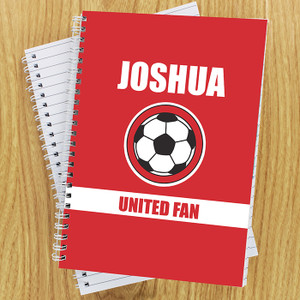 Personalised Red Football Fan Notebook From Something Personal