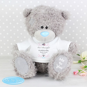Personalised Me To You Flower Girl Bear With T-Shirt From Something Personal