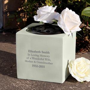 Personalised Memorial Vase From Something Personal