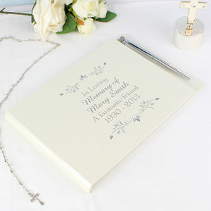 Personalised Sentiments Guest Book & Pen From Something Personal