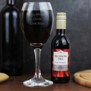 Personalised Red Wine & Wine Glass Set From Something Personal