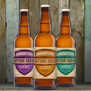 Personalised Beer 3 Pack Grandad's Beer Set From Something Personal