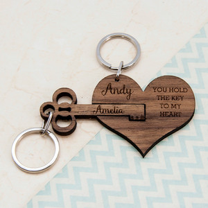 Personalised Key To My Heart Keyring From Something Personal