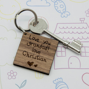 Personalised Kids Handwriting Keyring From Something Personal