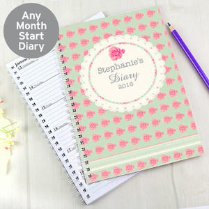 Personalised Vintage Rose A5 Diary From Something Personal