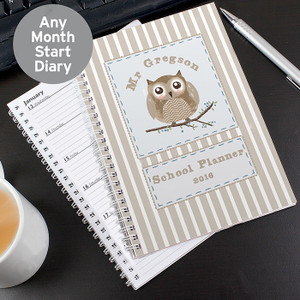Personalised Woodland Owl A5 Diary From Something Personal