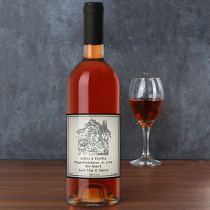 Personalised 1805 - 1874 Map Heart Rose Wine From Something Personal