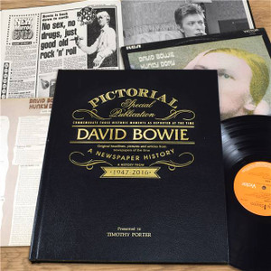 Personalised David Bowie Pictorial Edition Newspaper Book From Something Personal