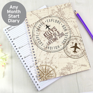 Personalised Travel A5 Diary From Something Personal