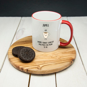 Personalised How Much You Mean To Me Mug From Something Personal