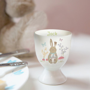 Personalised Easter Meadow Bunny Egg Cup From Something Personal