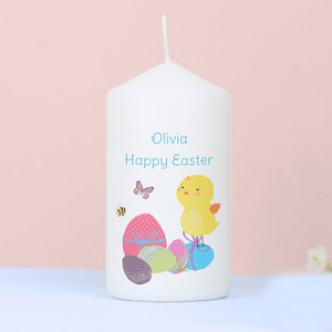 Personalised Easter Meadow Chick Candle From Something Personal