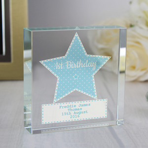 Personalised Stitch & Dot Boys Crystal Token From Something Personal