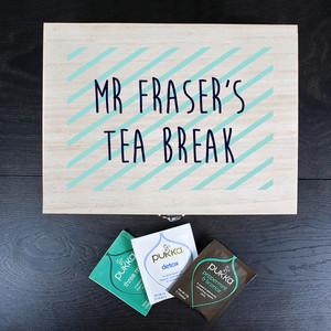 Personalised Teacher's Tea Break Box From Something Personal
