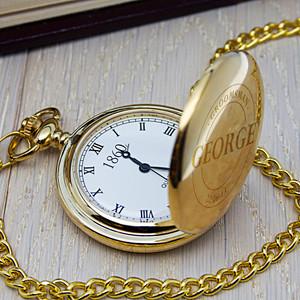 Personalised Groomsman Emblem Pocket Watch From Something Personal