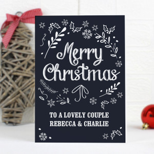Personalised Christmas Frost Card From Something Personal