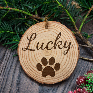Personalised Engraved Family Dog Christmas Tree Decoration From Something Personal