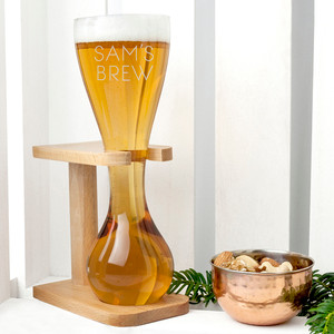 Personalised Quarter Yard Ale Glass From Something Personal