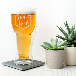 Personalised Bottoms Up Beer Glass From Something Personal