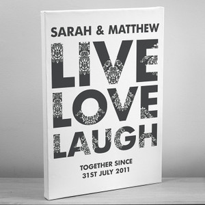 Personalised Live Love Laugh Canvas From Something Personal