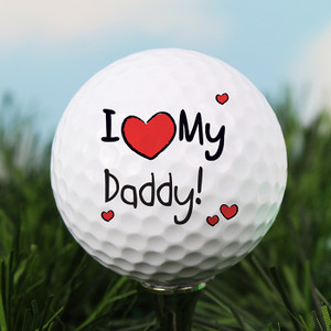 Personalised I Heart My Golf Ball From Something Personal