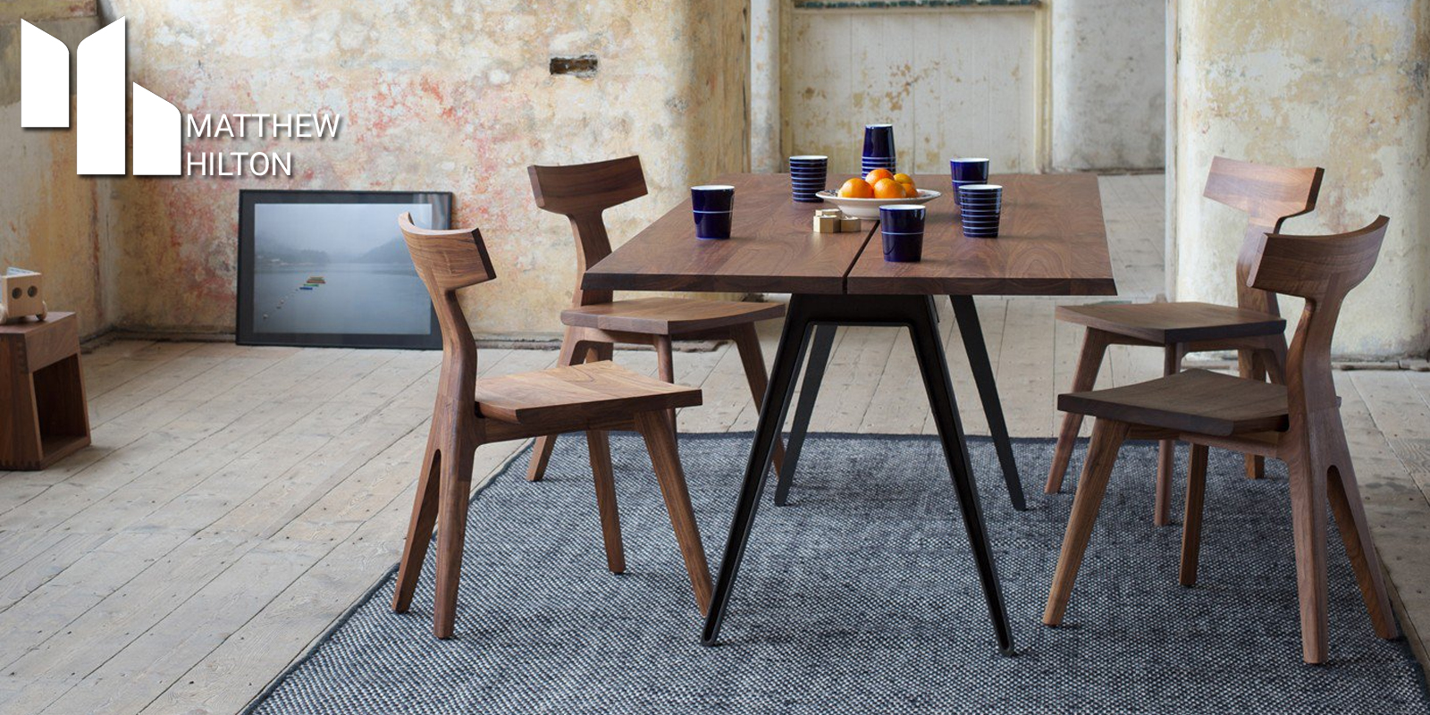 Matthew Hilton Welles Table & Fin Chairs