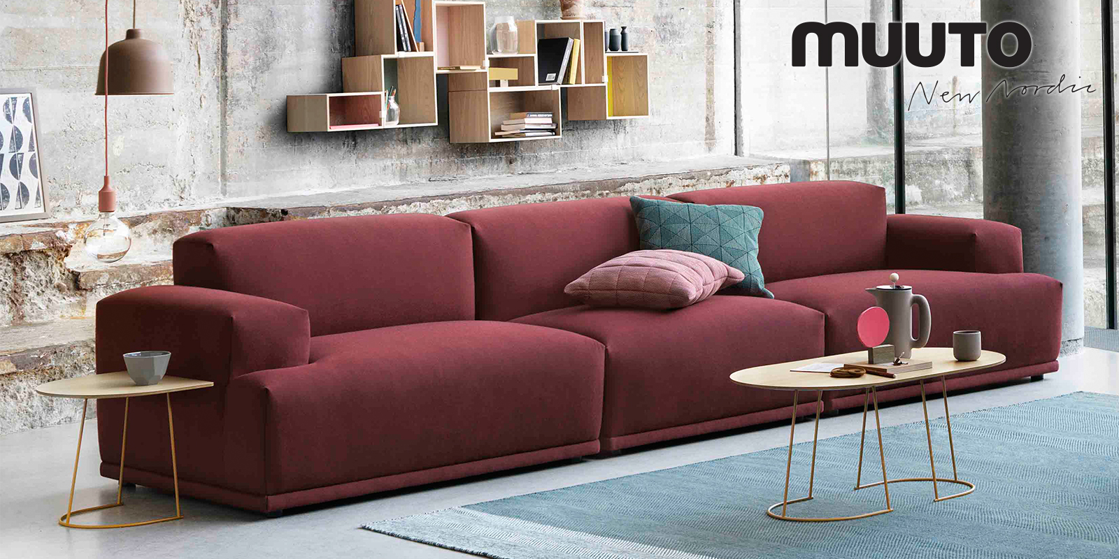 Muuto Connect Sofa, Airy Table