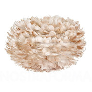Vita Eos Light Brown Feather Pendant