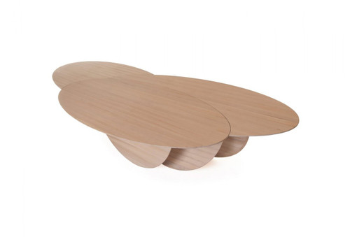 Cloud is an oversized table inspired by the organic forms of clouds. Made from engineered solid wood, this table is an excellent focal point for a large, open room. Designed by Autoban and manufactured by De La Espada for the Autoban brand.